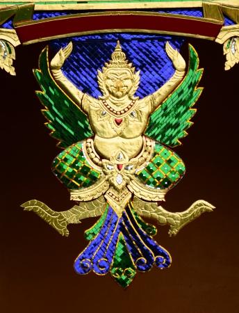 Garuda,Art in Thai temple.