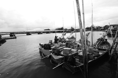 fishery products: Lives of Thai Fisherman  in Chanthaburi,Thailand.