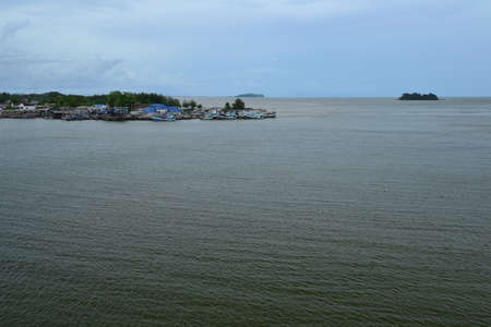 trad: The fishing village and coastal fisheries in Chanthaburi province. Thailand.