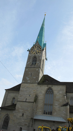 apartment tower old town: Beautiful scenery and architecture in Zurich, Switzerlan.