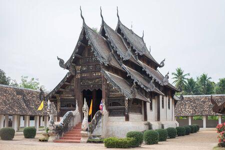 lanna: Old Buddha temple Lanna style Stock Photo