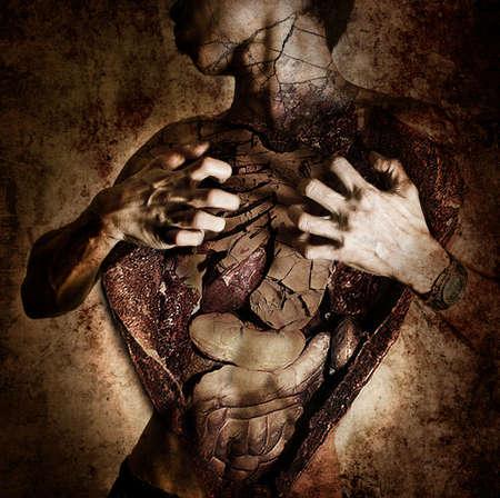 photoshop: In het lichaam Redactioneel