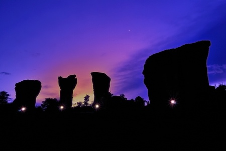 stonehenge of Thailand (Mo Hin khao) at Chaiyaphum province Thailand Stock Photo - 9859205