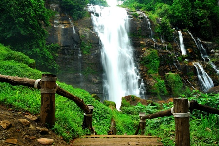 Wachiratran waterfall in Thailand photo