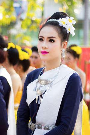 thai girl: thai girl in traditional thai dress Editorial