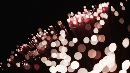 Glamour bokeh lights background with copy space Imagens