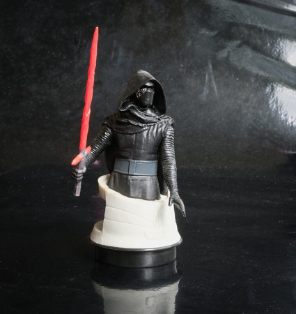 Trang Thailand - DEC 08, 2017: Studio shot Kylo Ren bust figure sf cinema from the Star Wars series at Trang village. Editorial