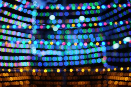 Multi colored bokeh lights background