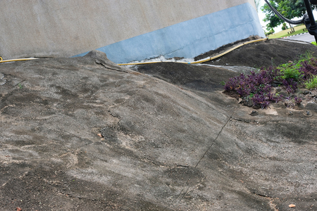 Slope concrete floor and water prevention area