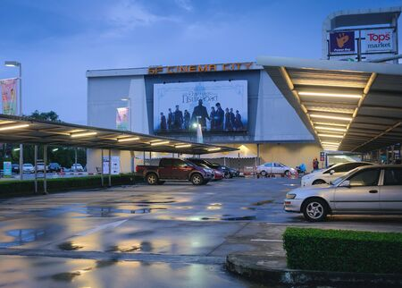 Trang, Thailand %u2013 October 11, 2018 : SF cinema city Theater entrance way and showing Fantastic Beasts : The Crimes of Grindelwald coming soon displays
