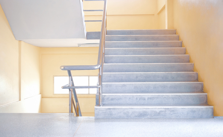 Contemporary modern stair with staircase handle Imagens - 123867028