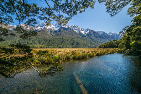 Mirror Lakes are a set of lakes lying north of Lake Te Anau and immediately to the west of the road from Te Anau to Milford Sound in New Zealand.