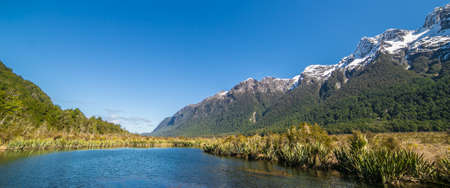 anau: Mirror Lakes are a set of lakes lying north of Lake Te Anau and immediately to the west of the road from Te Anau to Milford Sound in New Zealand.