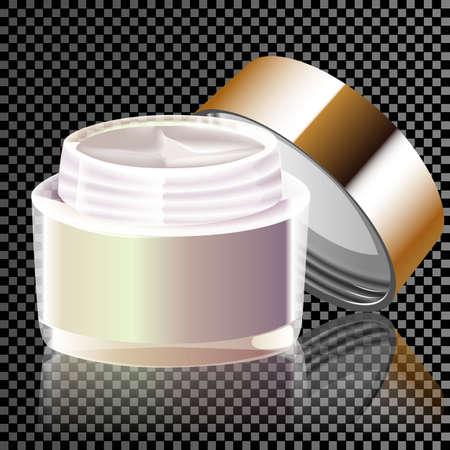 Pattern moisture cream ad, empty design cream bottle isolated on a transparent background
