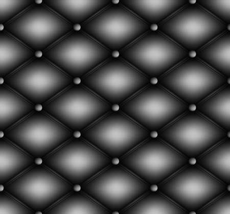 quilted: Quilted square seamless background pattern. Upholstery vector illustration.
