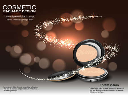 skin tones: Luxury ad template 3D illustration of the underlying product structure.