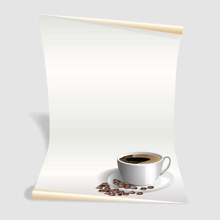 blank menu template white coffee card vector illustration royalty