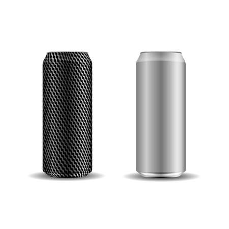 A set of realistic cans for your design.