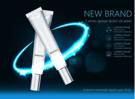 Moisture cream for face Concept Skin Care. Against the background of space. Vector illustration.