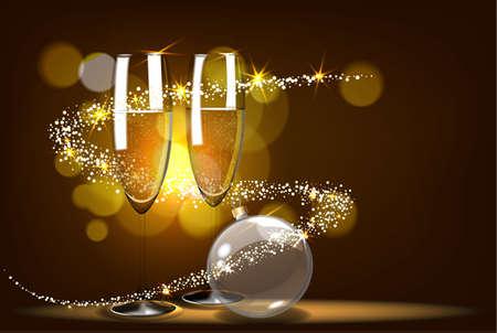Conception de cartes de Noël romantique.