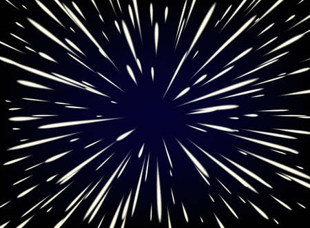 Star Warp or Hyperspace with free space in the center, light of moving stars concept.
