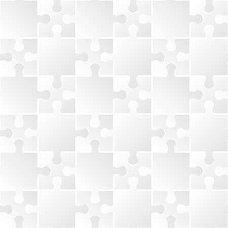 White puzzle seamless pattern. Illustration