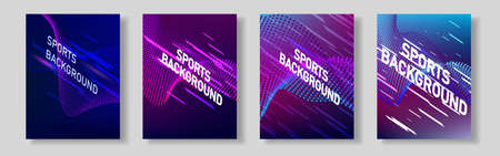 Color network of sports covers. For your design. Vector illustration