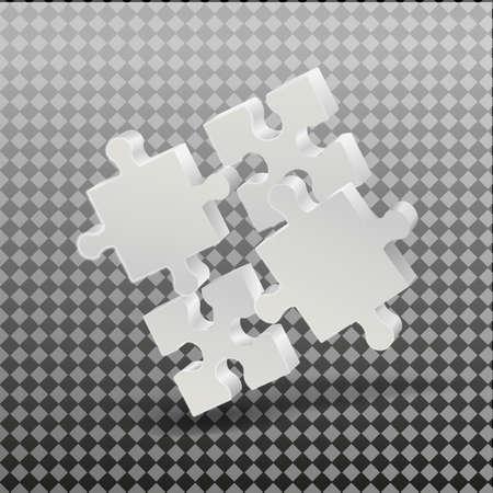 3D puzzle business presentation. On a transparent background. Business presentation. Vector.