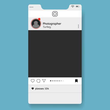 Social network page, social resources. Modern design. Vector illustration