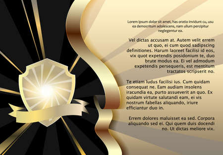 Invitation card for men, black gold. Vector