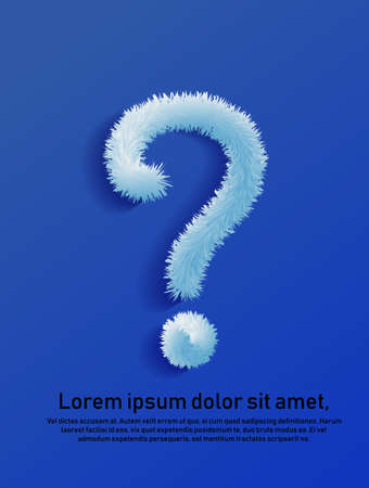 Question mark. in the style of a shaggy tail. for cover or print. Vector.