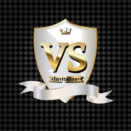Battle vs match, game concept competitive vs. Vector illustration