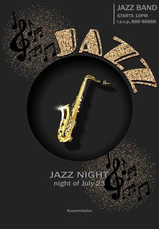 Poster, flyer invitation jazz concert Vector Ilustracja