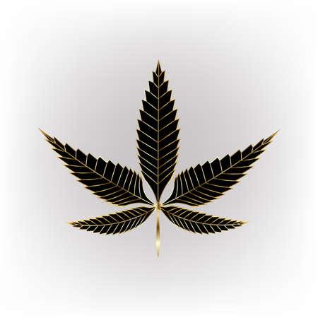 cannabis leaf black gold leaf vector file