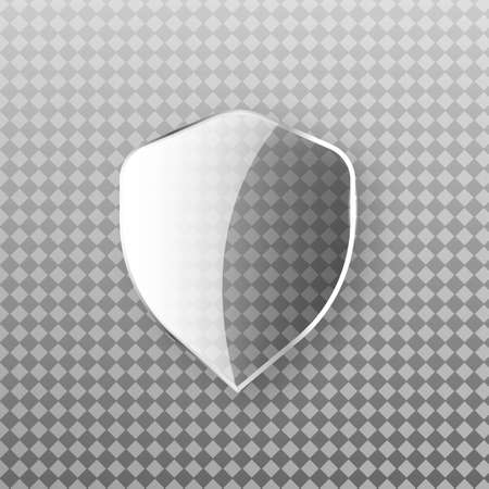 Safety Glass Badge Icon. Privacy Guard Banner Concept. Encryption Symbol Isolated Illustration