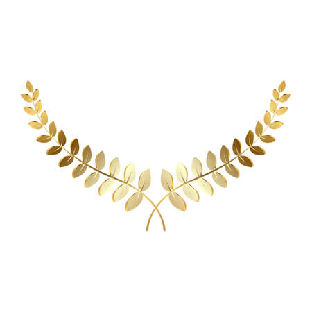 Vector golden laurel wreath isolated on a white background
