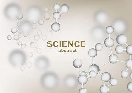 Conception verticale de vecteur abstrait de science avec la structure moléculaire d'ADN. Illustration de luxe de molécules 3d de couleur rose tendre, dépliant scientifique pour la médecine, la biologie, modèle de cosmétiques