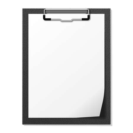 Vector image of the black tablet with paper Illustration