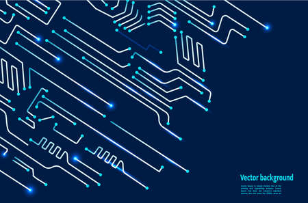 Vector Circuit Board. Digital technology blue background