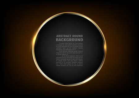 Golden ring.Vector luxury sparkling frame with text. Vettoriali