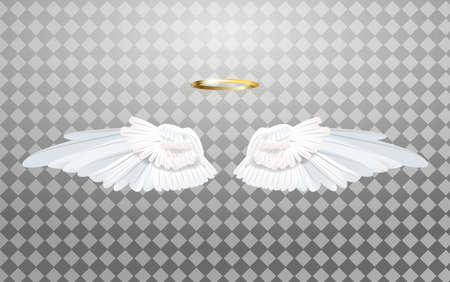 An illustration of angel wings isolated on a transparent background. Vector.