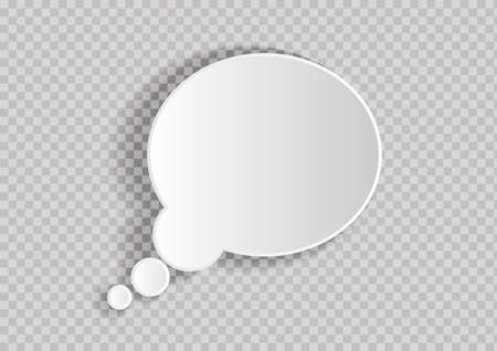 Abstract vector background of paper speech bubble for your own design. Transparent background Vettoriali
