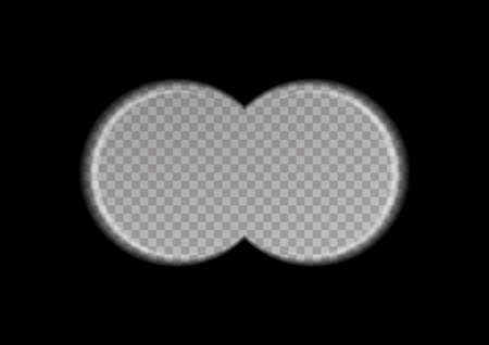 View binoculars on a transparent background. Vector illustration. Vecteurs