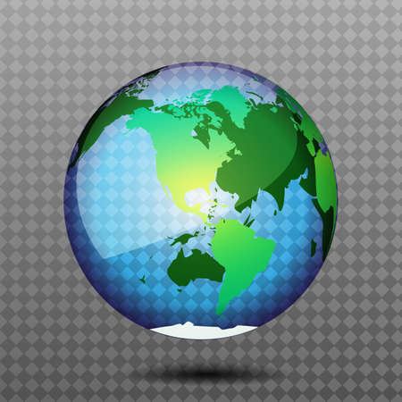 World globe editable vector illustration