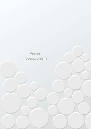 Trendy Neumorphism style liquid plastic interface background. vector illustration.