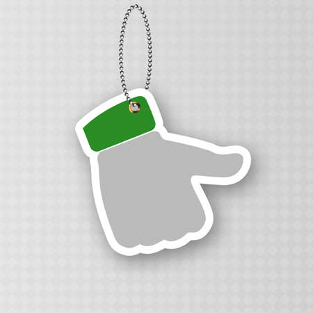 Paper thumb up tag isolated