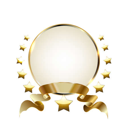 Gold laurel wreath winner frame. Ilustracja