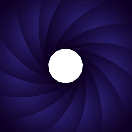 Abstract white circle on blue spiral background. 向量圖像