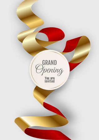 Grand opening vertical banner. Elegant style.
