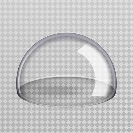 glass semi sphere isolated. illustration Stock fotó